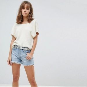 Mango Distressed Denim Shorts - 2
